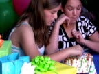 Kids Sneaking Cake at Birthday Party video