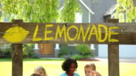 Kids with lemonade stand video