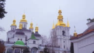 Kiev-Pechersk Lavra. The temple near the caves video