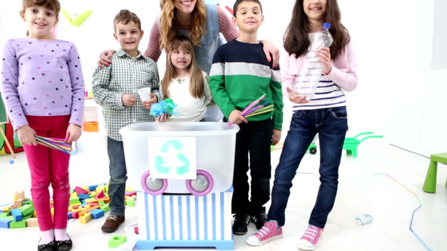 HD: Kindergarden Children Learning About Recycling video