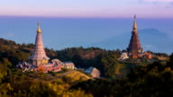 King and Queen Pagoda (Napha Metaneedol and Napha PholPhumisiri) of Doi Inthanon, Chiang Mai, Thailand (time lapse) video