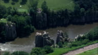 King And Queen Rocks  - Aerial View - South Dakota, Minnehaha County, United States video