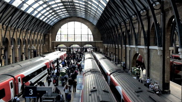King cross St. Pancras London train station, UK video