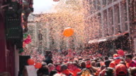 King's day festival in Amsterdam video