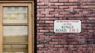 Kings Road sign. The world's most famous street of Kings Road in London. video