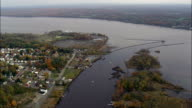 Kingston Waterfront - Aerial View - New York,  Ulster County,  United States video