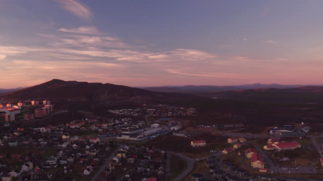AERIAL: Kiruna city and the Kiirunavaara mountain video