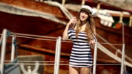 kiss from a girl sailor on the ship's gangway video