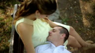 Kiss in the belly of pregnant women video