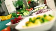 Kitchen activities - cutting vegetables video