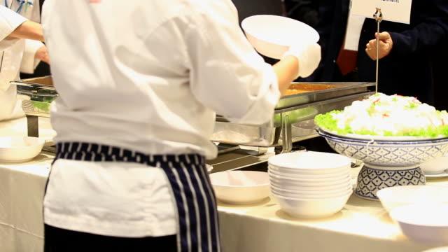 kitchen and chefs in restaurant video