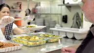 Kitchen Serving Food In Homeless Shelter video