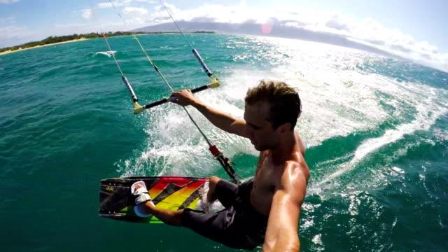 POV Kite Surfing video