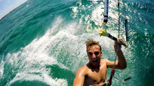 Kitesurfer Back Flip video