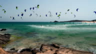 Kitesurfing in Chia video