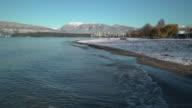 Kitsilano Beach Winter Snow, Vancouver 4K UHD video