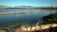Kitsilano Pool Winter Snow, Vancouver 4K UHD video