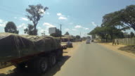 Kitwe Zambia Driving - Urban Road video