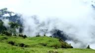 Kitzbuhel mountains in the mist video