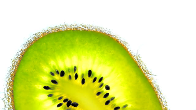 Kiwi in soda. video