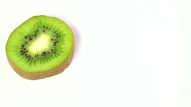 kiwi slice with text space video