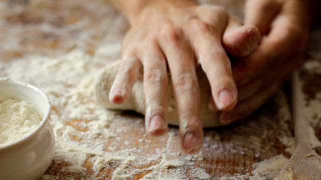 Kneading bread dough video