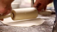 Kneading dough with rolling pin video