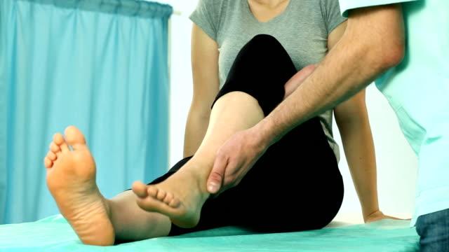 Knee massage video video