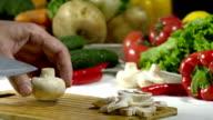 Knife Cut Mushrooms video