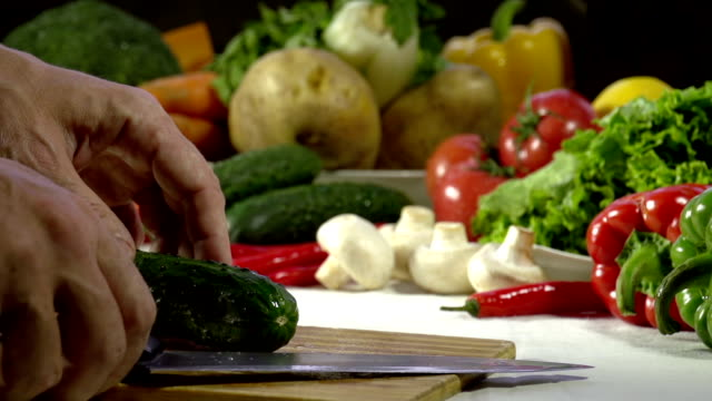 Knife Sliced Cucumber video