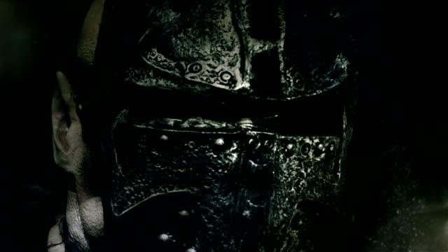knight helmet video