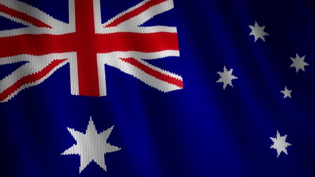 Knitted Australian Flag. video