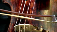 konrabass musical instrument and bow. video