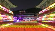 Korea temple lantern festival timelapse in Samgwangsa video
