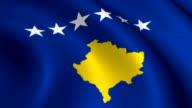 Kosova Flag Loopable video