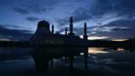 Kota Kinabalu City Floating Mosque, Sabah Borneo Malaysia video