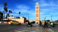 Koutoubia mosque in marrakesh, morocco video