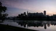 Krakow at dawn. video