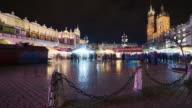 Krakow Christmas market timelapse video