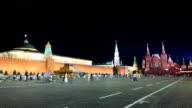 Kremlin night timelapse video