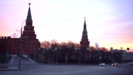 Kremlin towers in the morning video