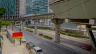 Kuala Lumpur downtown. City traffic timelapse video
