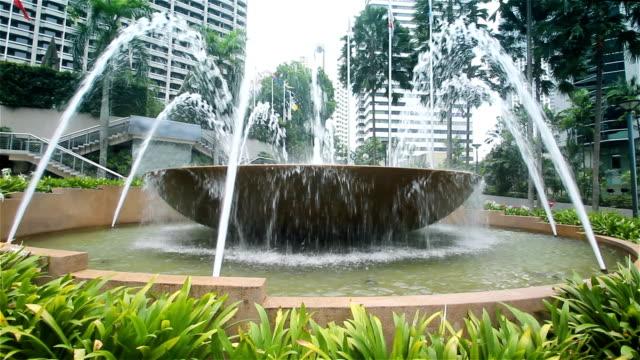 Kuala Lumpur fountain video