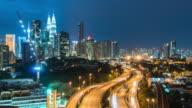 Kuala Lumpur, Malaysia city skyline. video