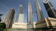 KLCC Kuala Lumpur Malaysia Petronas Towers video