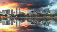 Kuala Lumpur, Malaysia skyline video