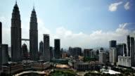 Kuala Lumpur skyline daytime featuring Petronas towers video