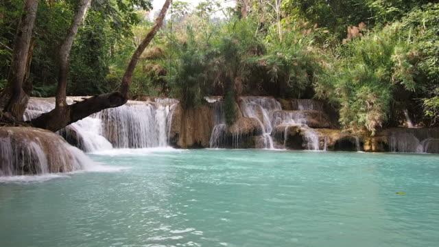 Kuang Si Falls in Luang Prabang, Laos video