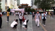 Kunming city center slow motion video