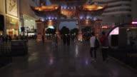 Kunming fast motion city center at night video